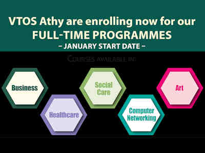VTOS Athy Enrolling Students for Full Time Courses